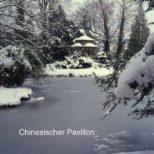 Chinesischer Pavillon - Schnee und Eis die Jahreszeit der harten Kontraste