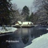 Pfahlbauten - Pfahlbauten im Winter - eine friedliche Welt